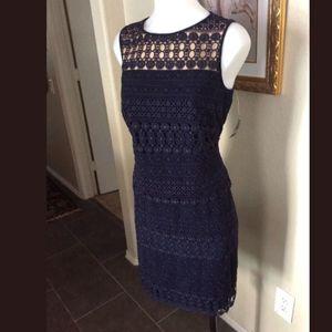 NWT-Lauren by Ralph Lauren, Navy Dress
